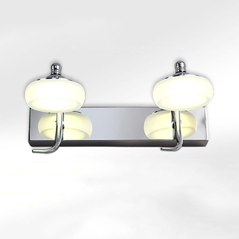 Spiegel - scheinwerfer ZXQZBad-Spiegel-Lichter LED-Edelstahl-rostfreier Spiegel-Scheinwerfer Geben Lochendes Modernes Wand-hngendes Spiegel-Kabinett-Licht-Badezimmer-wasserdichtes licht im bad