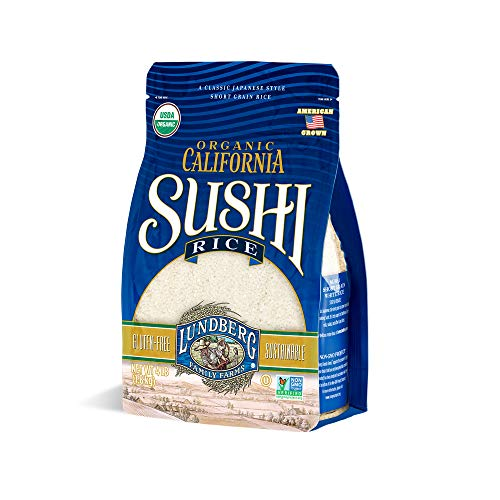 Lundberg Family Farms - Organic California Sushi Rice, Japanese-style Short Grain, Perfectly Sticky, Bulk Rice, Pantry Staple, Gluten-Free, Non-GMO, USDA Certified Organic, Vegan, Kosher (64 oz)