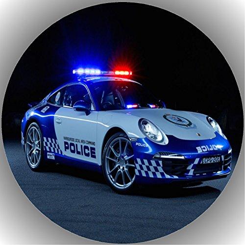 Fondant Tortenaufleger Tortenbild Geburtstag Polizei AMA9
