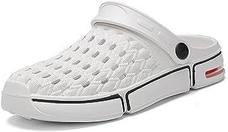 FDSVCSXV Unisex's Classic Clog, Slippers for Men Warm Mules Clogs Garden Shoes Winter Slipper Non-Slip Flip Flops,White,39