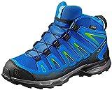SALOMON X-Ultra Mid GTX J, Stivali da Escursionismo Unisex-Bambini, Blu (Blue Yonder/Bright Blue/Granny Gree 000), 35 EU