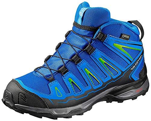 SALOMON X-Ultra Mid GTX J, Stivali da Escursionismo Unisex-Bambini, Blu (Blue Yonder/Bright Blue/Granny Gree 000), 38 EU