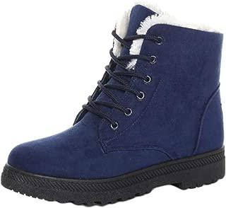 Fulision Female Winter Keep Warm Non-Slip Rubber Sole Martin Snow Boots