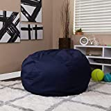 Flash Furniture Oversized Solid Navy Blue Bean Bag Chair