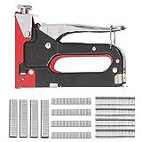 Popcornon Grapadora Manual 3 en 1 para Muebles, para Madera Blanda con 600 Grapas para Herramientas de UUAs Grapadoras