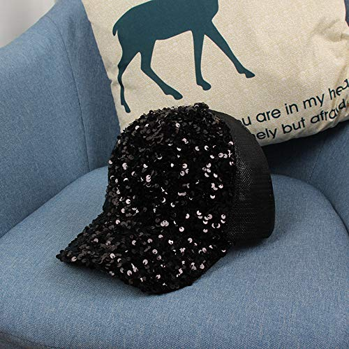 wtnhz Fashion items Mesh peaked cap European and American fashion colorful sequined sun hat outdoor sun hat