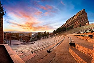 Denver, Colorado - Red Rocks Park - Photography A-93475 (16x24 Giclee Gallery Print, Wall Decor Travel Poster)