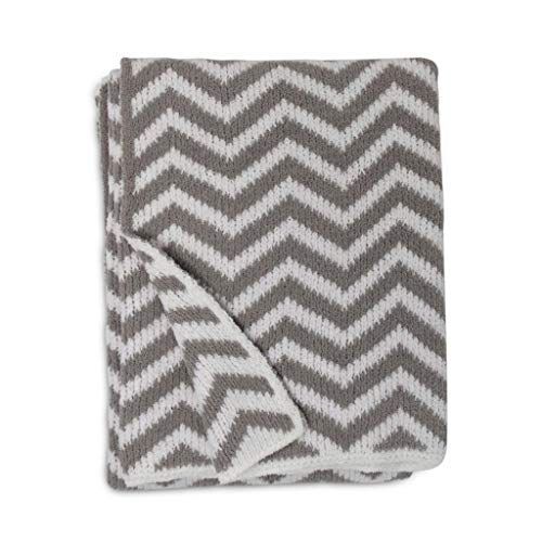 Living Textiles Chevron Chenille Soft Baby Blanket PREMIUM Cozy Fabric for BEST COMFORT - For...
