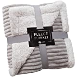 Sherpa Baby Blanket Fleece Throw – 30x40, Pearl Grey – Soft, Plush, Fluffy, Warm, Cozy – Perfect for Bed, Sofa, Couch, Chair