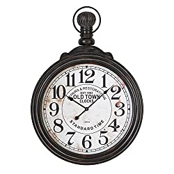 Deco 79 52107 Wood Wall Clock, 39H X 28W