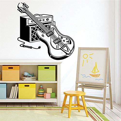 Elektrische Gitaar Muursticker Huisdecoratie Voor Kinderen Kamers Decor Waterdichte Woonkamer Kunst Aan De Muur Sticker Decoratie 43X43Cm