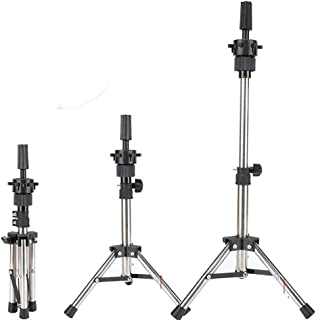 MAYCREATE® Adjustable Collapsible Hairdressing Tripod Hair Training Mannequin Holder Wig Stand