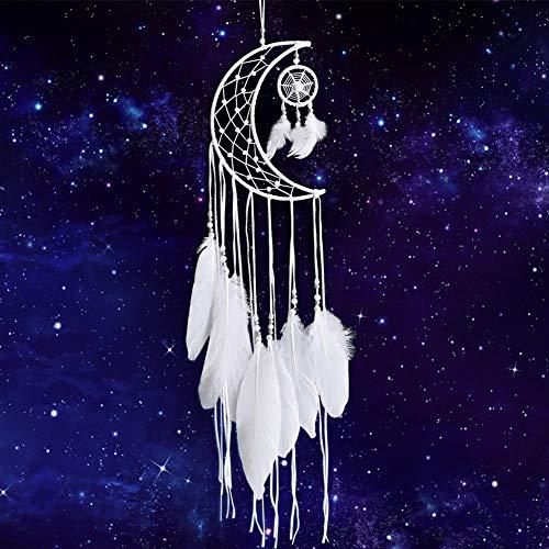 Yuccer Handgefertigt Traumfänger mit Weißer Feder Dreamcatcher Kunsthandwerk Wandbehang Ornament Hochzeit Dekoration Geschenke (Weiß)