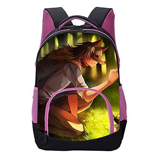 Pengtao Mochila Caperucita Roja impresa en 3DMochilas escolares de moda para niños y niñas, mochilas para adultos y adolescentes (45x30x15cm) Mochila de viaje de ocio
