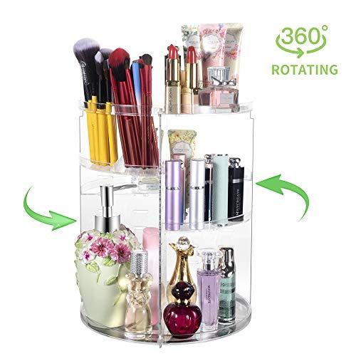 360° Rotating Makeup Organizer, Spinning Bathroom Organizer Countertop, Carousel Vanity Organizer, Cosmetic -