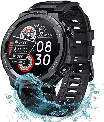 hwbq Reloj inteligente para hombres y mujeres resistente al agua 30 m Tough Sports Fitness Band al aire libre 1.3 pantalla táctil detección todo el día 9 modos