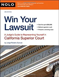 Win Your Lawsuit: A Judge's Guide to Representing Yourself in California Superior Court by Roderic Duncan Judge (2007-10-30)
