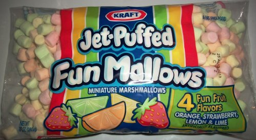 Kraft JetPuffed Mini Fun Mallows 10 Oz Bag