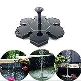 Solarbetriebene Wasserbrunnen, schwimmende Gartenteichpumpe für Vogelbad, acuario Kleiner Teich Wasserzirkulation für Sauerstoff Garten Terrasse Dekoration