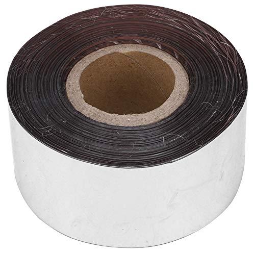 120 metros/rollo de papel metálico con 3 cm de ancho de papel de estampado en caliente para el paquete de tela de cuero caja de accesorios de decoración de bricolaje(Plata)