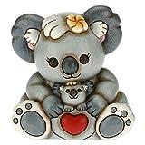 THUN - Koala Adelaide Abbraccio tra Mamma e Cucciolo Koki nel Marsupio - Living, Icone - Idea Regalo - Linea Time for Tenderness - Ceramica - 12,8x10,6x14 h cm