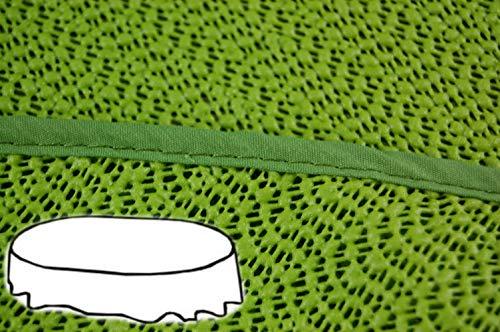 Gartendecke oval 160x220 cm Tischdecke mit Saum abwaschbar Gartentischdecke Balkon Terrasse wetterfest (Grün)