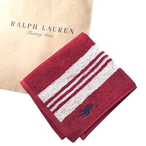 Ralph Lauren ラルフローレン ハンドタオル タオルハンカチ 就職祝い お祝いギフト レッドボーダー