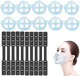 [2 en 1] Soporte para mascarilla y Salvaorejas para mascarillas [20 PCS] GXZOCK 3D soporte mascarilla [Facilita la respiración], Protector orejas mascarillas [Alivio del dolor de oído] [reutilizable]