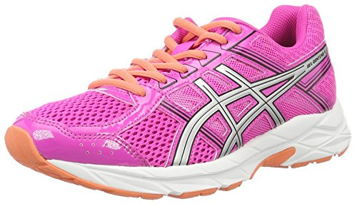 Asics Gel-contend 4, Women's Competition Running Shoes, Multi-Colored (Pink Glow/Silver/Black), 4 UK (37 EU)