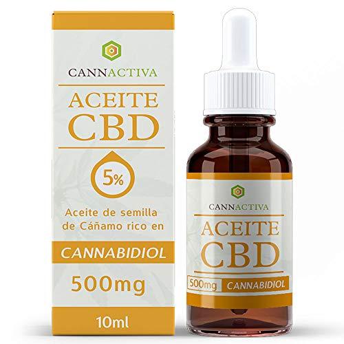 Cannactiva 5% CBD - Aceite de cáñamo rico en CBD - 10ml - 500mg