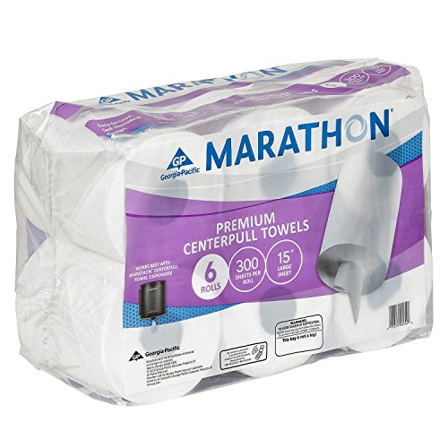 Marathon Center Pull Premium Paper Towel Rolls, 1,800 Sheets (6 Rolls) (Original) -  Marathon Industries, 00001