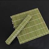 Juego de fabricantes de sushi para principiantes Fabricante de la mano de cocina Sushi Maker Herramientas Nueva 1Pcs rodillo Sushi Herramienta de bambú verde del balanceo Mat bricolaje Onigiri Rice Ro