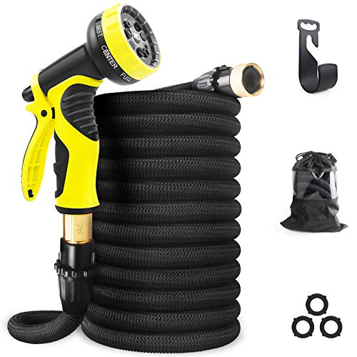 Aterod Expandable Garden Hose, 50ft Strongest Flexible Water Hose, 9 Functions Sprayer with Double...