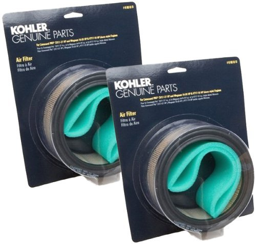 Kohler (2 Pack) 47 883 03-S1 Engine Air Filter With Pre-Cleaner Kit For K361, CH18, CH20, CH25 And CV17 - CV22