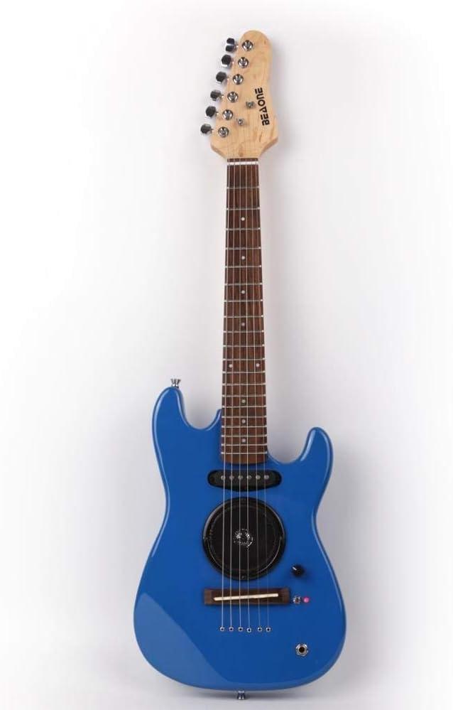 Guitarra Mini Guitarra Eléctrica con Amplificador Incorporado, Guitarra De Cuerdas De Acero Acústico Guitarra Clásica Guitarra acustica Hyococ (Color : Red)