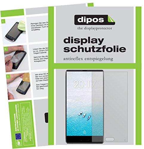 dipos I 6X Schutzfolie matt kompatibel mit Ulefone F1 Folie Bildschirmschutzfolie (3X Vorder- und 3X Rückseite)