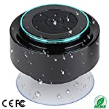 Bluetooth Shower Speaker with FM Radio, IP67 Portable Fully Waterproof, Hands-Free Speakerphone. Rechargeable