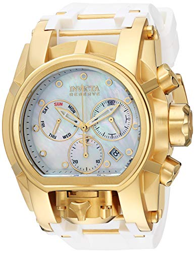 Invicta Men's Reserve Stainless Steel Quartz Watch with Silicone Strap, Two Tone, 21.1 (Model: 26714)