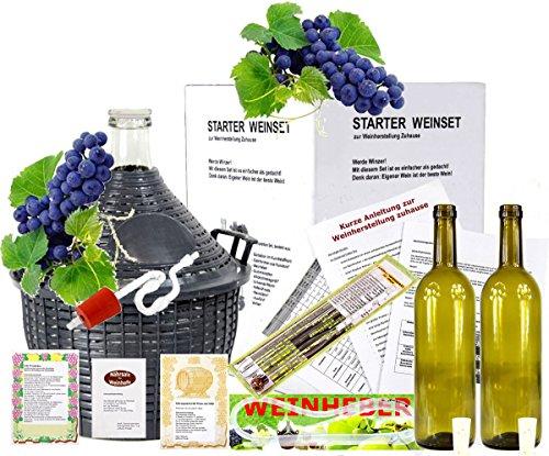 Starterset -Mach Wein selbst komplettes Weinset Wein selbermachen Weinballon 15L