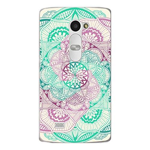 DISAGU SF de SDI de 4376_ 911# zub- cc6079Diseño Carcasa para LG Leon LTE–Diseño Mandala Vertebral Rosa