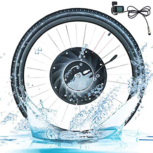 GJZhuan Kit de conversión eBIKE Imortor Bicicleta Eléctrica Kit De Conversión 1.0 con Batería Inalámbrica O Un Sólo Cable Todo En Uno con 40 Kmh Y 40 Km 2020 (Color : V App Control, Size : 24 in)