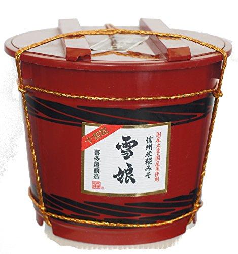 国産原料手造り米こうじ味噌「雪娘」3.5k縄掛け朱樽詰め