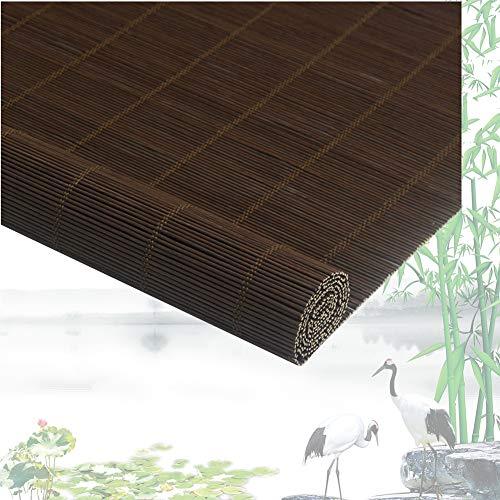 ZEMIN Bambus Raffrollo Bambusrollo Fenster Aufrollen Brandschutz Wasserdicht Draussen Lichtfilterung, 2 Farben, Größe Anpassbare (Color : B, Size : 60cmx180cm)