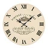 <span class='highlight'>Premier</span> Housewares Vintage <span class='highlight'>Home</span> Wall Clock - Cream