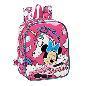 51p3sMWSssL. SS300  - safta 612012232 Mochila de Guardería de Minnie Mouse, Rosa, Único
