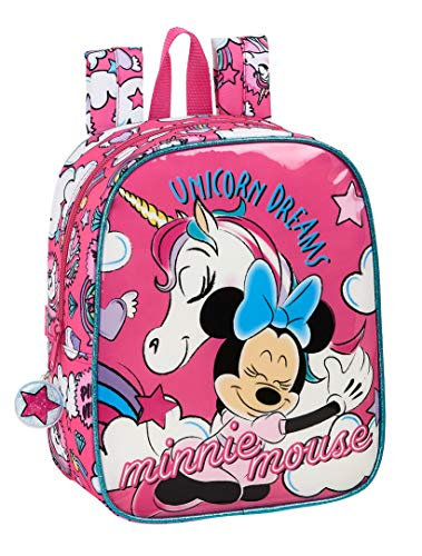 safta 612012232 Mochila de Guardería de Minnie Mouse, Rosa, Único