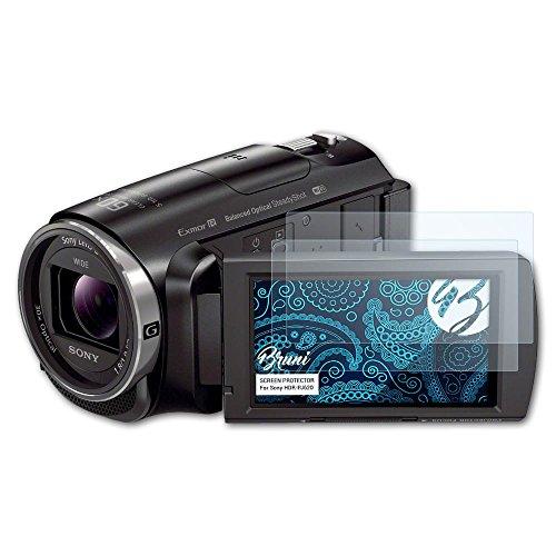 Bruni Schutzfolie kompatibel mit Sony HDR-PJ620 Folie, glasklare Displayschutzfolie (2X)