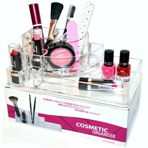 De Maquillage Rangement 9 compartiments acrylique Écran