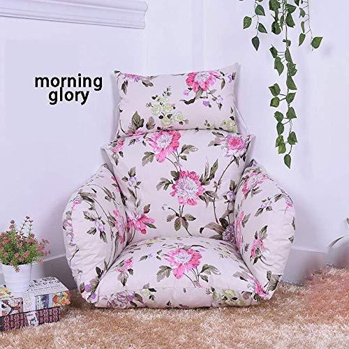 Mnjin - Cojín para silla mecedora suave y cómodo, cojín para silla colgante, cojín para hamaca en forma de huevo, cojines para sillas de balancín extraíbles, D