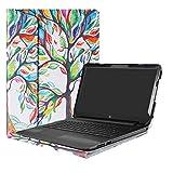 Alapmk Diseñado Especialmente La Funda Protectora de Cuero de PU para 15.6' HP Notebook 15-bsXXX / 15-bwXXX/HP 250 G6 / HP 255 G6 / HP 256 G6 Ordenador portátil,Love Tree